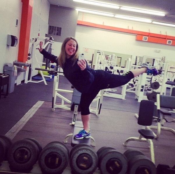 #GymSelfie of the day @morgangans – very balanced individual