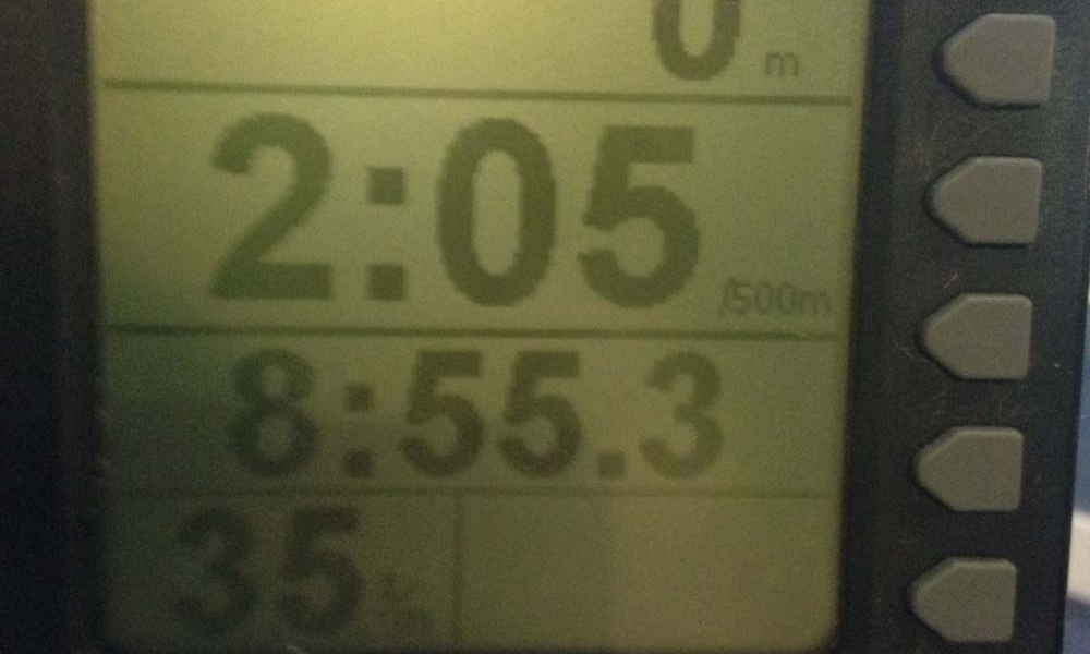New Personal Best on the Rower – 2000m in 8.55m