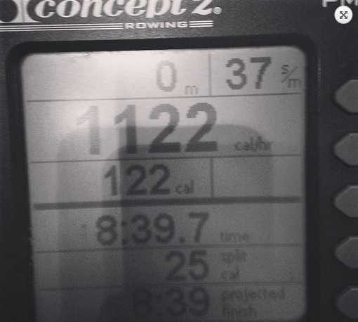 New Personal Best on the Rower – 2000 metres in 8m 39secs