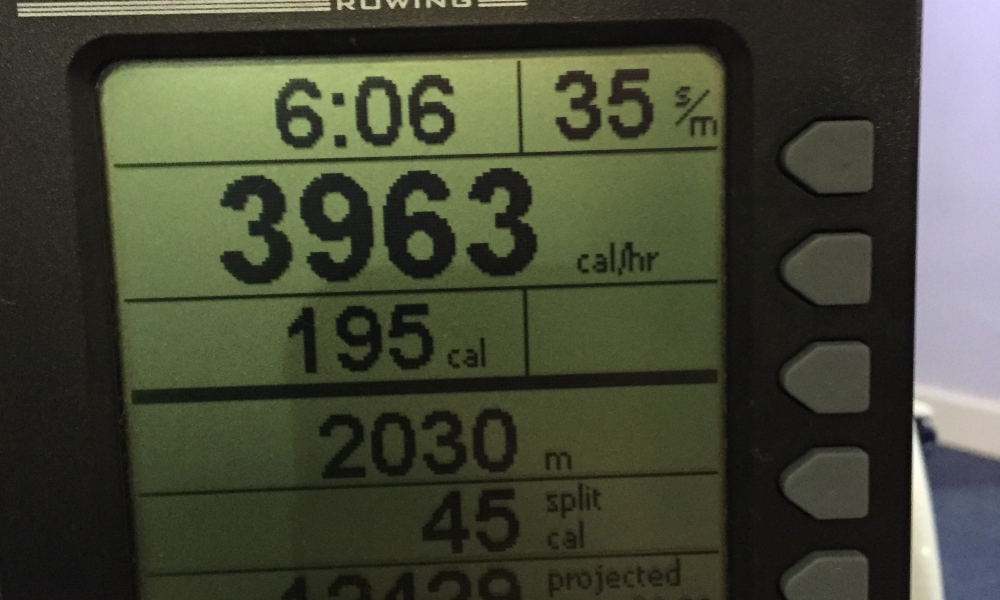 78% Fitness Wanker – Shaved 2mins off my 2000m rowing challenge Personal Best